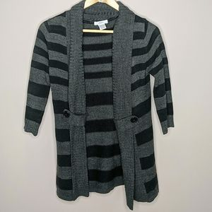Candies Striped Open Cardigan 3/4 Sleeves